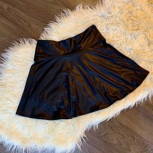 Forever 21 faux leather circle skirt